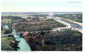 Historic 1913 postcard of canal in  Miami, Florida. Courtesy of the Thurlow Collection.