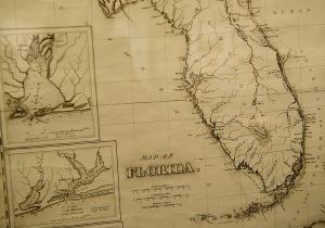 Historic map of Florida...