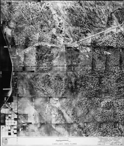 1940 aerial of  east side of east side of Lake  Okeechobee and lands of western Martin and St Lucie counties.