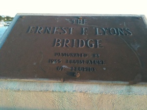 Lyons Bridge marker. (JTL)