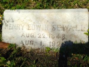Capt Sewall's grave.