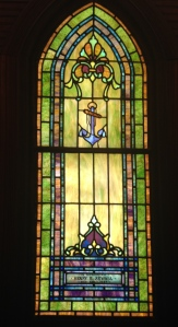 Capt Henry Sewall's memorial window, All Saint's Church, Jensen Beach, Florida.