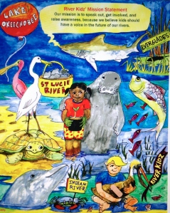 River Kidz teaches about water issues in the state of Florida. (Julia Kelly artist, 2013)