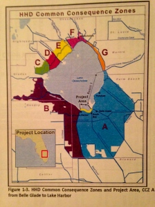 HHD Common Consequence Zones and Projects Area, CCZ from Belle Glade to Lake Harbor, ACOE 2015.