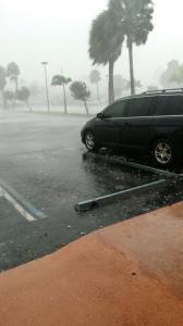 Photo of Storm by Caroline Lawless, Cedar Point Plaza.