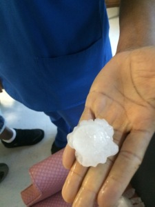 Photo of hail by Becky Engebretsen taken at Stuart Convalescent  Center, Stuart.