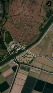 Map of Indian Mound area today, Google Maps, 2015.