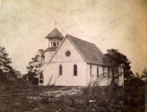 1898 photo of All Saints Church, Jensen Beach, (Photo courtesy of Sandra Henderson Thurlow.)