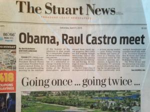 Stuart News front page, 4-11-15.