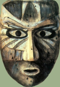 Calusa Indian mask image, public domain. Many wooden masks were found particularly at the Marco Island in far west Florida. They were and sketched  before they disintegrated once removed from the muck.
