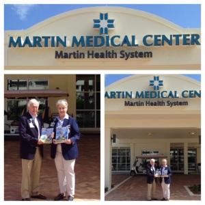 MMH Auxiliary chair, Barbara Bush, and Bill Michaud, president. (Photo Martin Health Systems Auxiliary, 2015.)