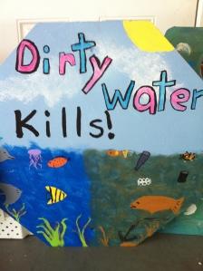Dirty Water Kills. River Kidz art archives.