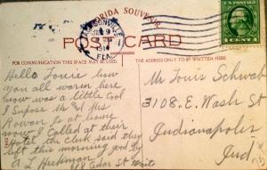 Postcard back 1914.