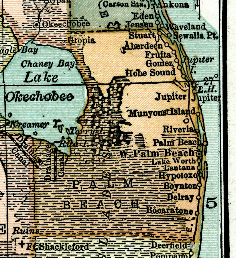 Historic everglades maps jacqui thurlow lippisch here is a map 1920 source leslies new world atlas new york gumiabroncs Images