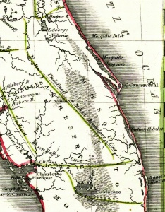 Mosquito County early map.