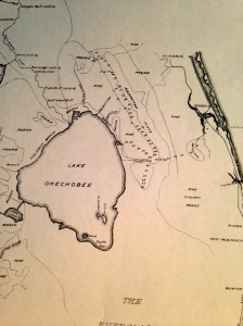 1909-11 ACOE Drainage map Kissimmee and Caloosahatchee Rivers. (Courtesy  historian Sandra Henderson Thurlow.)