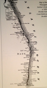 "Train route along Indian River/St Lucie. Map Sandra Thurlow's book ""Jensen and Eden..."""
