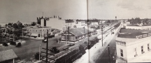 Inside cover of Stuart on the St Lucie, Sandra Henderson Thurlow shows train depot in downtown.