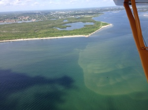 Runoff plume as seen over St Lucie Inlet 7-22-15. (Photo Ed Lippisch)