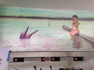 Mural Lima airport, 2015.