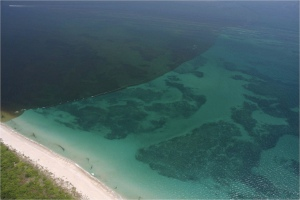 Plume over nearshore reefs. (Martin County files)