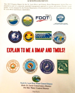 Inside cover of the Draft 2015 SLR BMAP Report.