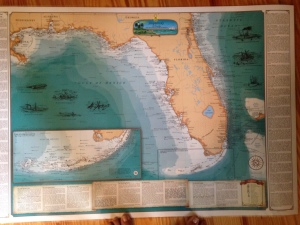 "Map of ""Shipwrecks of Florida"" and the most famous lie along Florida's Treasure Coast! (map Stuart Heritage Museum)"