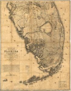 3. 1856 US Seminole war map. Val Martin.