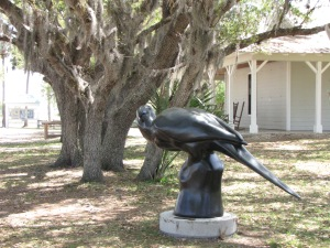 Carolina Parakeet sculpture by (Paul Grey)