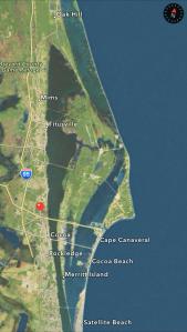 Brevard Museum location in Brevard County. Google maps.