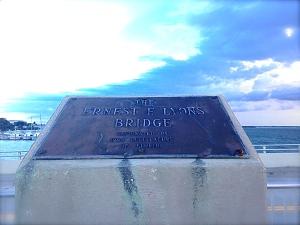 Ernest Lyons Bridge marker. (JTL)