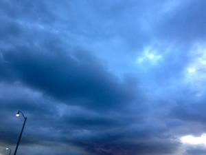 Storm forming in iridescent blue and white. (JTL)