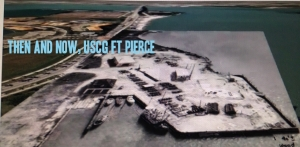 Google Earth image with historic photo overlay, USCG Ft Pierce, Fl. Taken from Todd Thurlow's Time Capsule Flight THEN AND NOW.