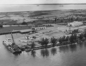 "USCG Station Ft Pierce. ""Made land."" (Archives SHT)"
