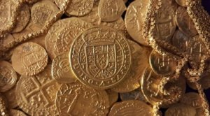 Gold coins found recently off Ft Pierce, as shared for publication by Queens Jewels LLC. (Public photo)