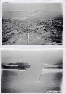 Aerial of land and Ft Pierce Inlet. (Archives SHT)