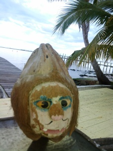 Coconut head belonging to Bob Washam. The head comes from the old Pitchford's Bar that used to be on Indian River Drive in Jensen. (Photo Bob Washam)