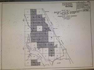 St Lucie Gardens plat map 1881. MC Property appraiser, via Todd Thurlow.