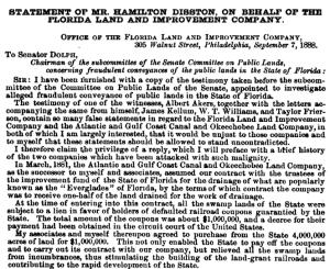 Orginal everglades document of the state of Florida. (TT)