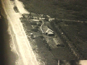 1945 US Coast Guard Station and stables for horses were later converted to the Kensington Club located in the area where Jensen Beaches are today. (Photo Dale Hipson via Sandra H. Thurlow.)