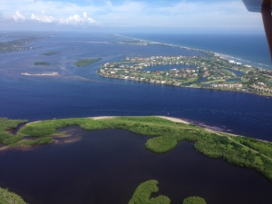 St Lucie Inlet and Sailfish Point area after approximate 7-10 inches of regional rainfall in area 9-16-18. Photo taken on 9-23-15, Ed Lippisch.