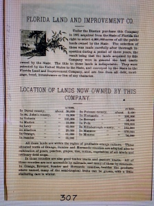 Page listing lands of Disston, mind you county boarders were different at this time. Matin was Brevard.