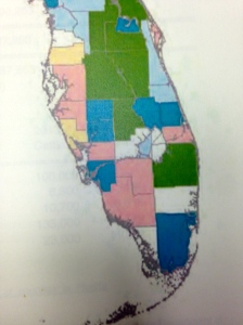 2009 map, the last year made available, DEP where biosolids are distributed and manufactured.