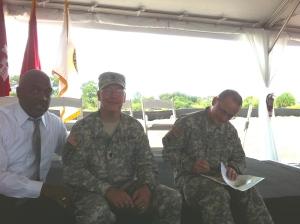 ACOE Col. Pantero and Lt Col. Kinade, 2011. (Photo JTL)