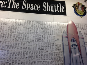 Signature of those who worked on the shuttle program.