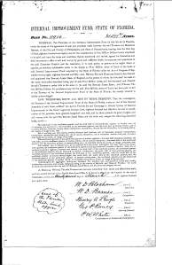 Deed of Disston lands sold to Reed, 1881. (TT)