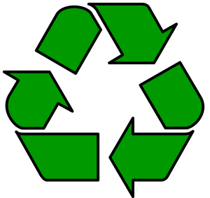 Recycle symbol.