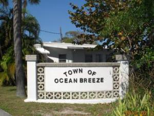 The Town of Ocean Breeze does not appear to have an official seal but this image is displayed often, 2015.