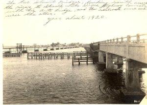Bridges across the St Lucie River, ca. 1920. (Photo archives Sandra Henderson Thurlow)