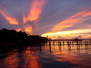 What a wonderful world. Sunset on the St Lucie River, photo by Jenny Flaugh, 2009.